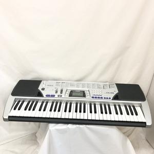 中古 CASIO カシオ 電子キーボード CTK-496 61鍵盤 シルバー グレー 電子ピアノ 鍵盤楽器 アダプター付き H15255
