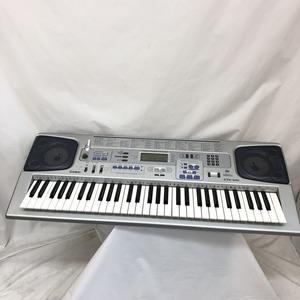 中古 CASIO カシオ 電子キーボード CTK-591 シルバー 61鍵盤 電子ピアノ アダプター付き H15353