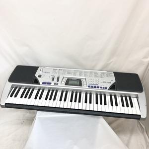 中古 CASIO カシオ 電子キーボード CTK-496 61鍵盤 シルバー 電子ピアノ 鍵盤楽器 アダプター付き H15429