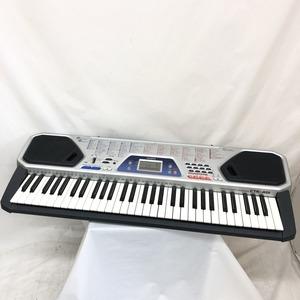 中古 CASIO カシオ 電子キーボード ベーシックキーボード CTK-481 61鍵盤 シルバー 電子ピアノ 鍵盤楽器 アダプター付き H15428