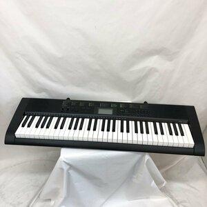 中古 CASIO カシオ 電子キーボード CTK-1100 61鍵盤 ブラック ベーシックキーボード 電子ピアノ 鍵盤楽器 アダプター付き H15462