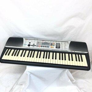 中古 YAMAHA ヤマハ 電子キーボード PSR-201 61鍵盤 コンパクト ブラック 電子ピアノ 鍵盤楽器 アダプター付き H15461