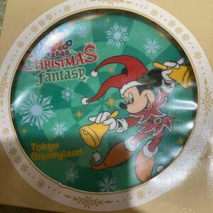 ディズニーランド クリスマスファンタジー プレート  飾り皿 ミッキーマウス