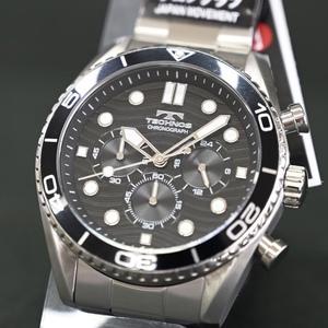 送料無料★特価 新品 TECHNOS正規保証付き★テクノス T6B11SB メンズ腕時計 限定品 オールステンレス クロノグラフ★プレゼントにも最適