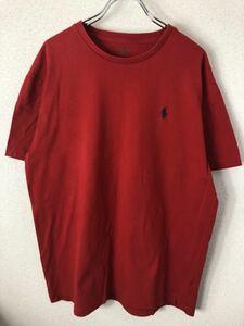 ポロラルフローレン 90s 刺繍ロゴ 半袖 Tシャツ 古着 メンズ M オールドPOLO RALPH LAUREN トップス ポニー ワンポイント オールド A14-5