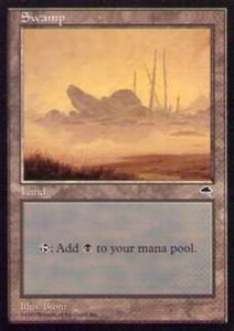 020349-002 TE/TMP 基本土地 沼/Swamp(3) 英1枚