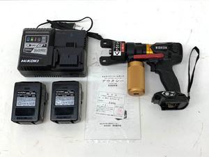 【未使用】NISHIDA 西田製作所 NC-E750-8J 充電式油圧ポンプ アウクシー バッテリー2個 充電器付