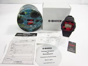 未使用 CASIO G-SHOCK カシオ G-ショック Black Eye Patch DW-5600JK-1JRスクエア デジタル 腕時計 ☆AC20358