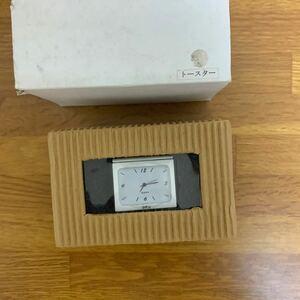 家電モチーフmini時計シリーズ トースター 電池交換交換済み