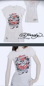 Ed Hardy☆レディースTシャツ☆生成り☆XSサイズ☆新品未使用