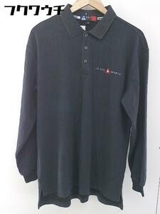 ◇ le coq sportif ルコックスポルティフ 長袖 ポロシャツ サイズM ブラック メンズ
