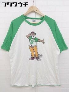 ◇ CAPTAIN SANTA キャプテンサンタ 半袖 Tシャツ サイズXL グリーン ホワイト レディース