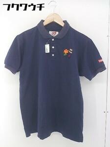 ◇ ◎ MASTER BUNNY EDITION マスターバニーエディション 刺繍 半袖 ポロシャツ サイズ5 ネイビー メンズ