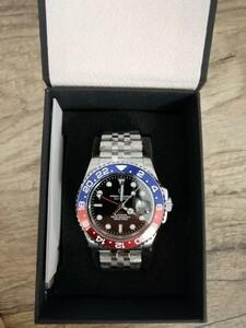 送料無料!パガーニデザイン GMT 40mm 機械式腕時計 メンズ トップブランド ステンレス鋼 スポーツ 防水 自動 腕時計 レロジオ masculino