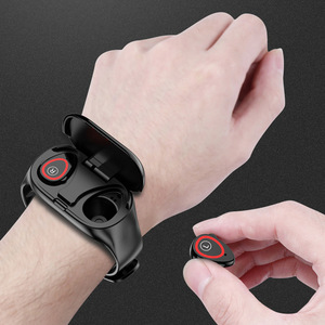 要注目※傷なし おすすめ商品 即決可能! スマート腕時計女性男性 BLUETOOTH ヘッドフォン嫌い率血圧モニタースポーツスマートウォッチ