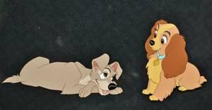 Disney ディズニー わんわん物語 レディ トランプ セル画 原画 限定 レア 入手困難 希少