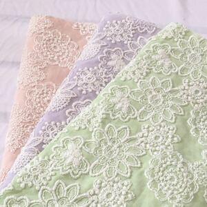 国産高級刺繍レース生地 豪華刺繍レース生地 花柄刺繍 ハギレ