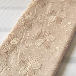 国産高級刺繍 花刺繍 コットンレース生地 刺繍レース 刺繍生地 マーガレット ハギレ