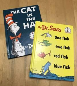 古本 洋書 絵本 Dr.Seuss ドクタースース 2冊セット THE CAT IN THE HAT One fish two fish red fish blue fish