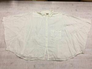 ディーゼル DIESEL マント型 ケープ 半袖シャツ ブラウス レディース コットン100% 身幅広い 胸ポケット フリー 白