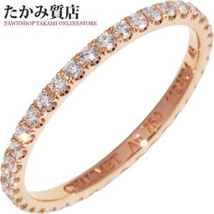 ショーメ K18PG ダイヤ マイクロパヴェオール リング 081076 指輪
