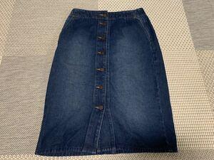 デニムスカート ロングスカート デニムロングスカート GU タイトスカート 綺麗 可愛い 美品 膝丈スカート