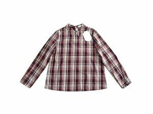 新品 定価4900円 イーハイフンワールドギャラリー チェック 衿付き T ブラウス シャツ トップス 完売