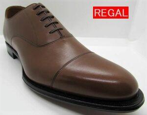 新品 未使用 リーガル REGAL 01DR(革底) 靴 メンズ ビジネスシューズ ストレートチップ 26.5cm ダークブラウン 日本製