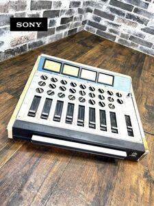 昭和レトロ SONY ソニー 8CHANNEL MIXER チャンネルミキサー MX-16 通電確認済 現状販売品 音響機器 ミキサー 即日配送