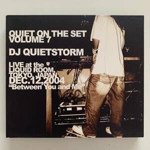 DJ QUIETSTORM / QUIET ON THE SET Volume7 CD 激レア ブル-ハ-ブ TERMINATORZ TOUR 新宿 リキッドル-ム tha blue herb 桑田 つとむ