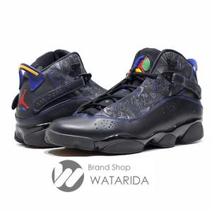 ナイキ ジョーダン スニーカー Air Jordan 6 Rings The Six Championships 10.5 28.5cm ブラック パープル 送料無料