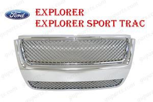 ▼ フォード エクスプローラー スポーツトラック ラジエーター グリル 6L2Z8200DAA 8L2Z8200DA クローム1FMWU74 1FMEU74 1FMKU51 1FM8U53
