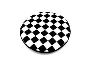 白黒チェッカー柄フォグランプカバー(6インチ用)【単品】・BMC・クラシックミニ・ローバーミニ・英国車・LUCAS・ルーカス②