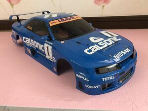 送料無料 1/8 タミヤ 日産 カルソニックスカイライン GT-R R33 塗装済み ラジコン ボディ TAMIYA NISSAN SKYLINE CALSONIC