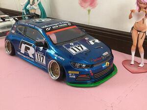 送料無料 1/10 フォルクスワーゲン シロッコ レーシングカー ラジコン ボディ タミヤ TAMIYA VOLKSWAGEN SCIROCCO RACING CAR