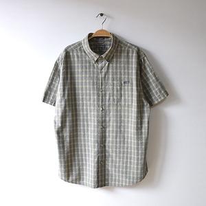 【送料無料】エディーバウアー シアサッカー コットン アウトドア BDシャツ チェック柄 メンズL トレッキングシャツ Eddie Bauer CB0465