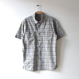 【送料無料】エディーバウアー アウトドア 半袖シャツ ポリシャツ メンズS Eddie Bauer チェック柄 CB0469