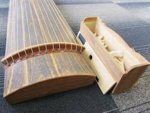 箏 琴 和楽器 和琴 13弦 弦楽器 伝統楽器 琴柱 琴柱入れ 全長182㎝ 現状品 ② 引き取り歓迎 札幌