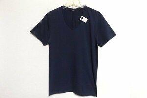 Z9439:未使用DENHAM(デンハム) TUBULAR V TJ 無地Tシャツ/濃紺/L:3