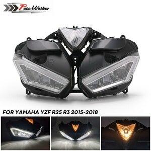 ヤマハYZF R25 R3 フロントヘッドライト カスタム 高品質 ハウジング YZF-R25 YZF-R3 2013 2014 2015 2016 2017 LEDヘッドライト