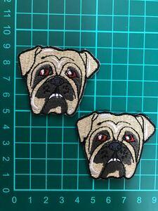 2枚入犬アイロンワッペン 刺繍ワッペン ハンドメイド グッズ 犬服