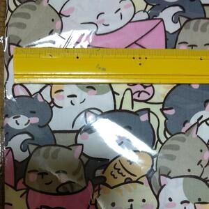 ★猫がいっぱい★めっちゃ可愛いニャンコ★コットン100%生地ハギレ★最終値下げ★