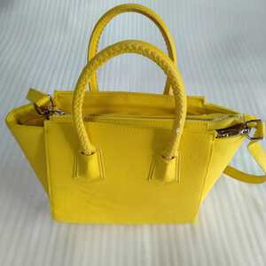 送料無料】H&Mハンドバッグ 黄色イエロー ミニトートバッグショルダーバッグ2way エイチアンドエム