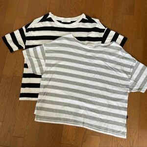 ニコアンド  ボーダーTシャツ 2枚
