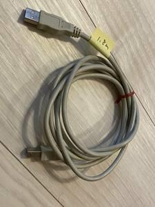 送料込 中古 USB2.0ケーブル タイプAオス - タイプBオス 1.8m 灰色 その2