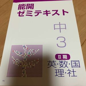 塾テキスト 能開 ゼミテキスト 中3 英語 数学 理科 社会 国語 5教科