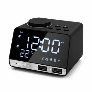 【激安】INLIFE K11 BLUETOOTH 4.2 ラジオアラーム時計スピーカー 2 USB ポート LED デジタルアラーム時計