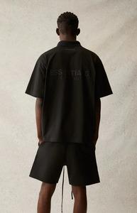 【新品未使用】FEAR OF GOD FOG ESSENTIALS フィアオブゴッド エッセンシャルズ ロゴ ポロシャツ 21SS BLACK ブラック XSサイズ