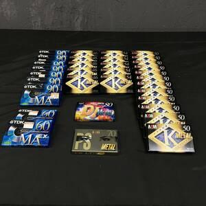 ○(A2-ke)カセットテープ メタル 未使用・未開封品 まとめ売り 37本 metal position TYPEⅣ【AXIA K METAL / TDK MA EX / DJ METAL】