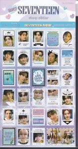 ☆New!■SEVENTEEN/セブンティーン■新・記念切手ステッカー☆韓国